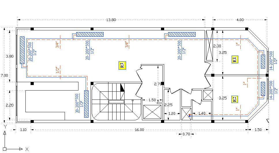 پروژه تهویه مطبوع آپارتمان 4 طبقه